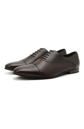 Мужские кожаные оксфорды BARRETT темно-коричневого цвета, арт. 141U002.19/CERV0 ASP0RTABILE | Фото 1