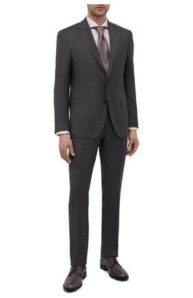 Мужские кожаные дерби TOD'S темно-серого цвета, арт. XXM01E00C20D9C | Фото 2 (Стили: Классический; Материал внутренний: Натуральная кожа)