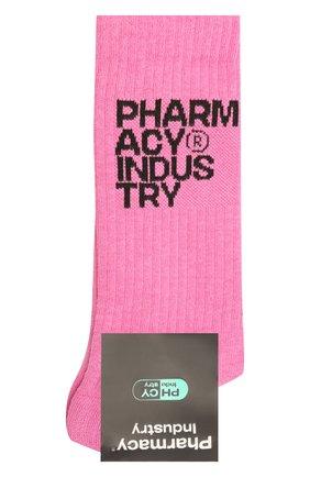Мужские хлопковые носки PHARMACY INDUSTRY розового цвета, арт. PHMA023 | Фото 1