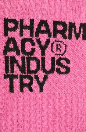 Мужские хлопковые носки PHARMACY INDUSTRY розового цвета, арт. PHMA023 | Фото 2