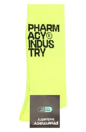Мужские хлопковые носки PHARMACY INDUSTRY желтого цвета, арт. PHMA023   Фото 1