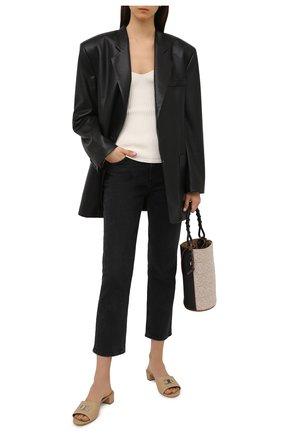 Женские кожаные мюли SALVATORE FERRAGAMO бежевого цвета, арт. Z-07412681C   Фото 2