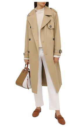Женские кожаные лоферы SALVATORE FERRAGAMO коричневого цвета, арт. Z-07411851C | Фото 2