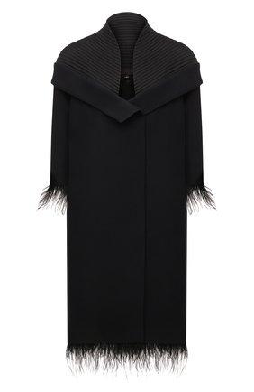 Женское платье из шерсти и шелка TEGIN черного цвета, арт. SC2142 | Фото 1