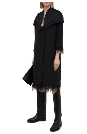 Женское платье из шерсти и шелка TEGIN черного цвета, арт. SC2142 | Фото 2
