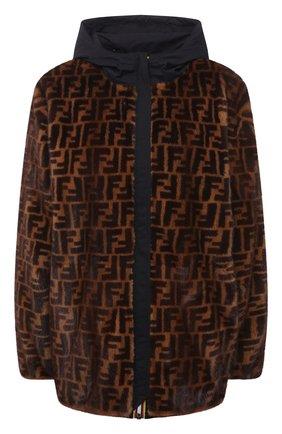 Женская куртка с меховой подкладкой FENDI коричневого цвета, арт. FNE70I AEKV   Фото 1