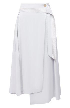 Женская льняная юбка LORENA ANTONIAZZI белого цвета, арт. P2125G0004/3347   Фото 1