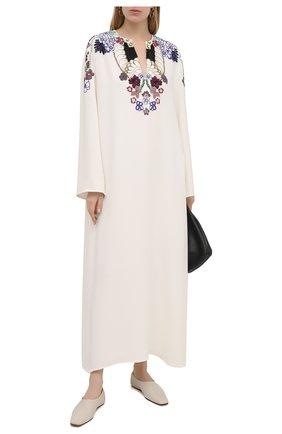 Женское шелковое платье VALENTINO белого цвета, арт. VB3VAVA31MM | Фото 2