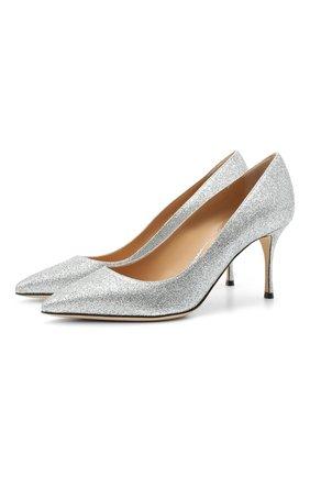 Женские текстильные туфли godiva SERGIO ROSSI серебряного цвета, арт. A43841-MTE101 | Фото 1