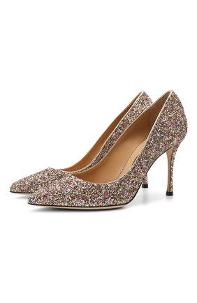 Женские текстильные туфли godiva SERGIO ROSSI разноцветного цвета, арт. A43843-MTE303 | Фото 1