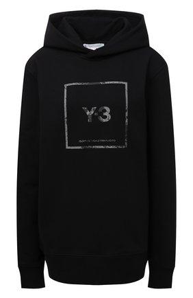 Женский хлопковое худи Y-3 черного цвета, арт. GV6056/W | Фото 1