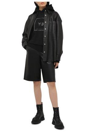 Женский хлопковое худи Y-3 черного цвета, арт. GV6056/W | Фото 2