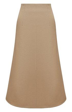 Женская юбка из хлопка и шерсти REDVALENTINO бежевого цвета, арт. VR3RAF55/4R9 | Фото 1