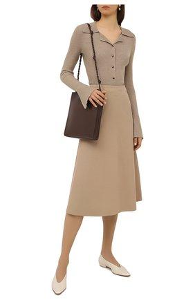 Женская юбка из хлопка и шерсти REDVALENTINO бежевого цвета, арт. VR3RAF55/4R9 | Фото 2