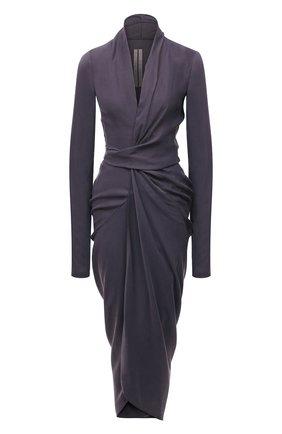 Женское платье RICK OWENS фиолетового цвета, арт. RP21S3542/CS | Фото 1