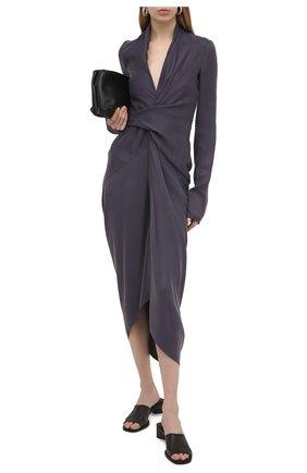 Женское платье RICK OWENS фиолетового цвета, арт. RP21S3542/CS | Фото 2