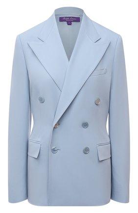 Женский шерстяной жакет RALPH LAUREN голубого цвета, арт. 290840415 | Фото 1