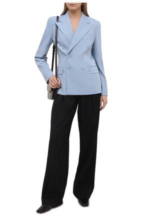 Женский шерстяной жакет RALPH LAUREN голубого цвета, арт. 290840415 | Фото 2