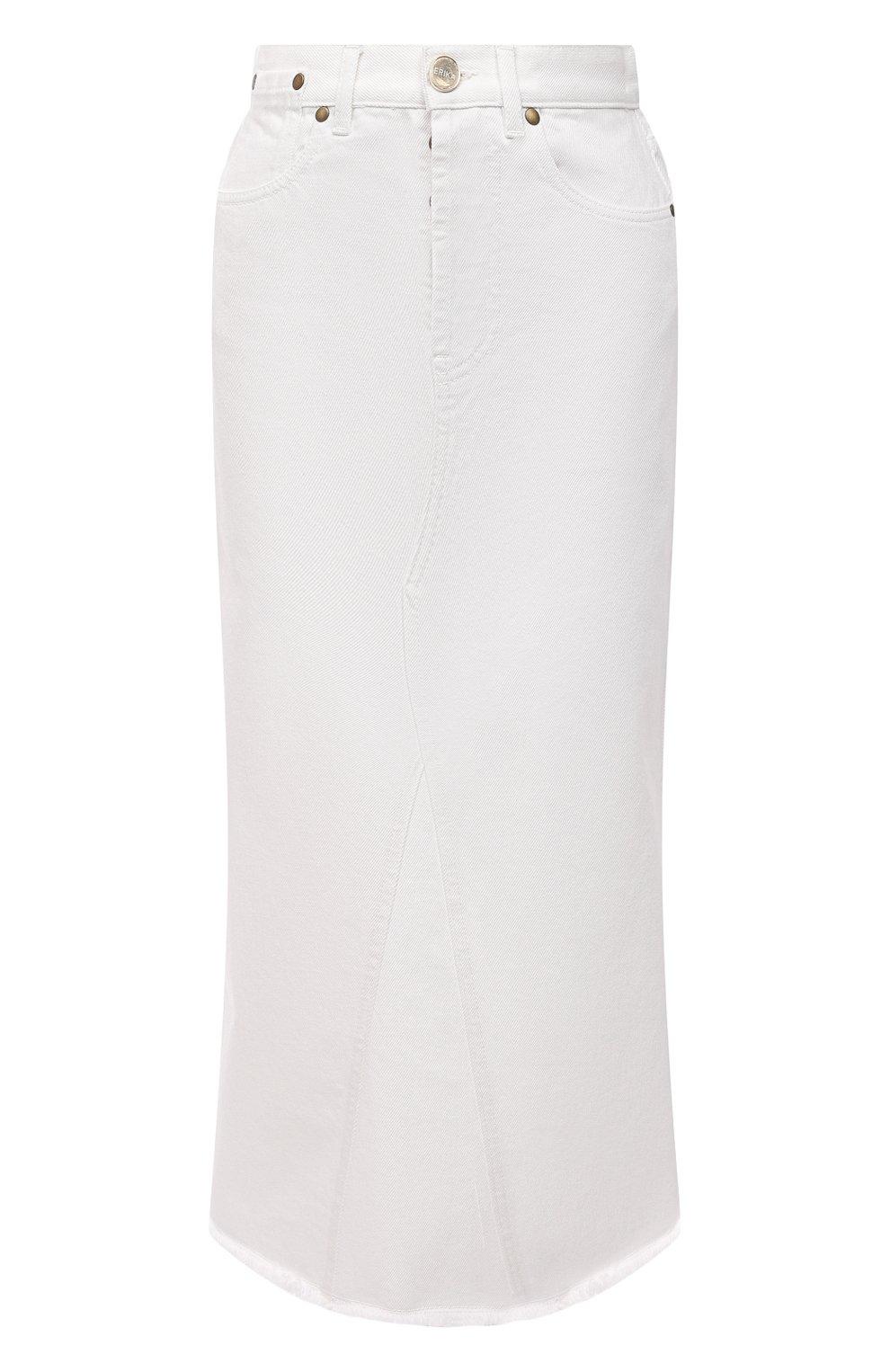 Женская джинсовая юбка ERIKA CAVALLINI белого цвета, арт. S1/P/P1SW01 | Фото 1