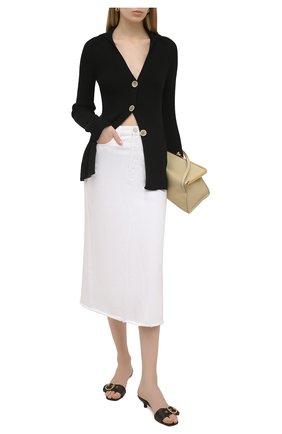 Женская джинсовая юбка ERIKA CAVALLINI белого цвета, арт. S1/P/P1SW01 | Фото 2