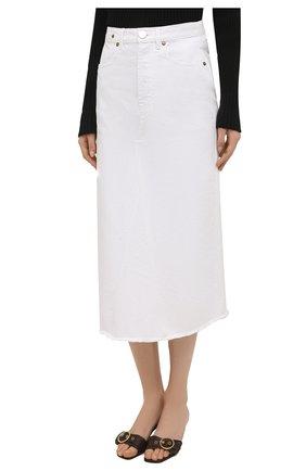 Женская джинсовая юбка ERIKA CAVALLINI белого цвета, арт. S1/P/P1SW01 | Фото 3