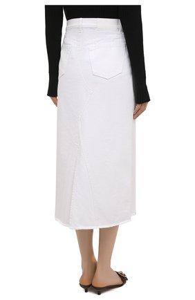 Женская джинсовая юбка ERIKA CAVALLINI белого цвета, арт. S1/P/P1SW01 | Фото 4