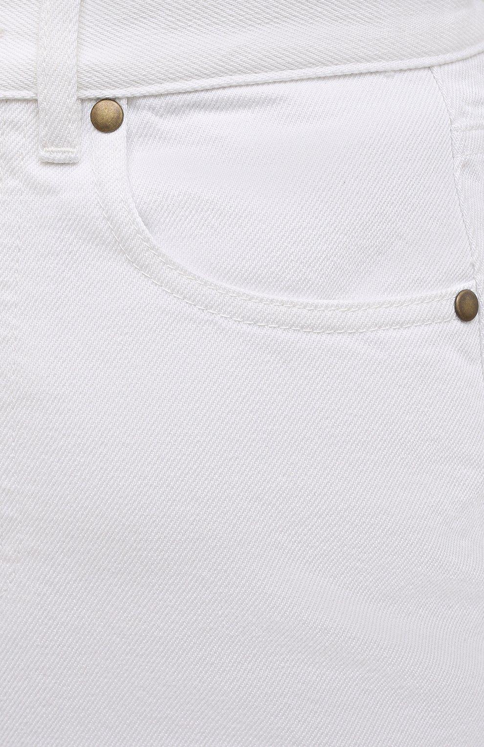 Женская джинсовая юбка ERIKA CAVALLINI белого цвета, арт. S1/P/P1SW01 | Фото 5