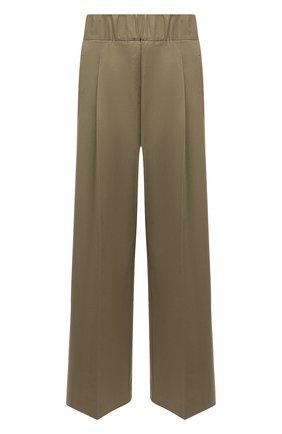 Женские хлопковые брюки ERIKA CAVALLINI хаки цвета, арт. S1/P/P1SJ11 | Фото 1