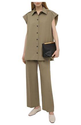Женские хлопковые брюки ERIKA CAVALLINI хаки цвета, арт. S1/P/P1SJ11 | Фото 2