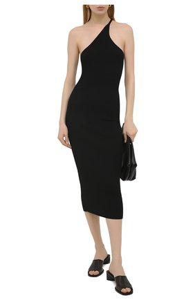 Женское платье из вискозы ERIKA CAVALLINI черного цвета, арт. S1/P/P1SB06 | Фото 2