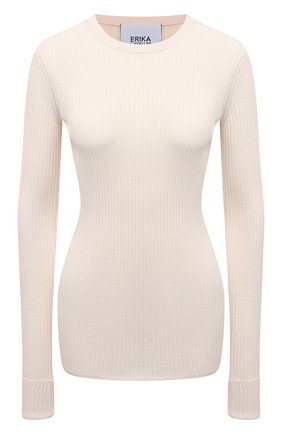 Женский пуловер из вискозы ERIKA CAVALLINI бежевого цвета, арт. S1/P/P1SB02 | Фото 1