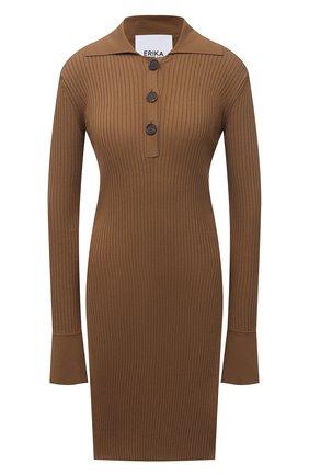 Женский пуловер ERIKA CAVALLINI коричневого цвета, арт. S1/P/P1SB01 | Фото 1