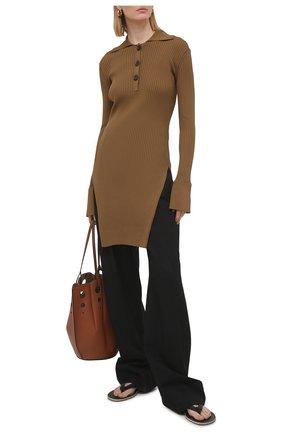 Женский пуловер ERIKA CAVALLINI коричневого цвета, арт. S1/P/P1SB01 | Фото 2