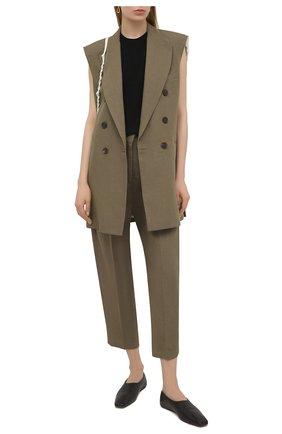 Женские льняные брюки ERIKA CAVALLINI хаки цвета, арт. S1/P/P1S003 | Фото 2
