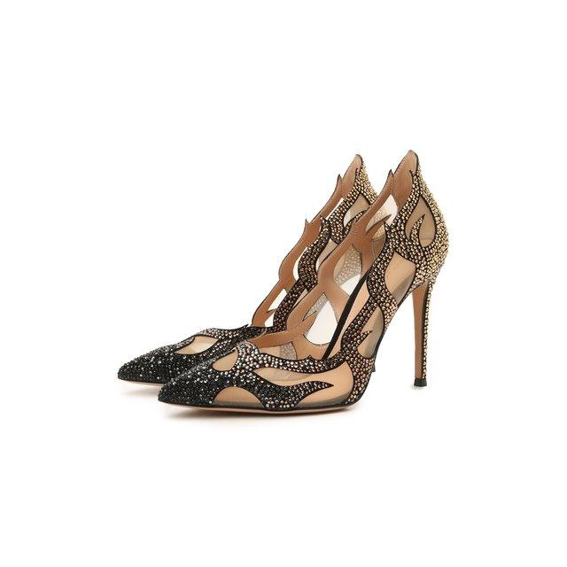 Комбинированные туфли Inferno Gianvito Rossi