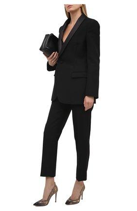 Женские комбинированные туфли inferno GIANVITO ROSSI разноцветного цвета, арт. G22066.15RIC.XARNEND | Фото 2