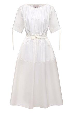 Женское хлопковое платье MONCLER белого цвета, арт. G1-093-2G712-10-549D1 | Фото 1
