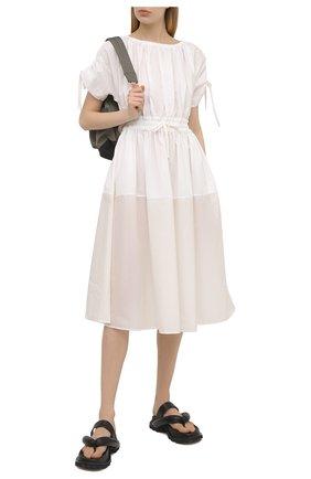 Женское хлопковое платье MONCLER белого цвета, арт. G1-093-2G712-10-549D1 | Фото 2