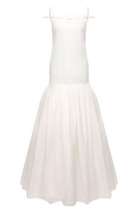 Женское льняное платье JACQUEMUS белого цвета, арт. 211DR23/108114 | Фото 1