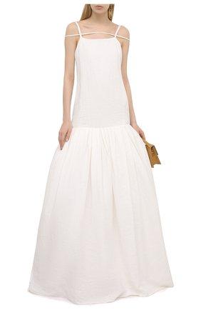 Женское льняное платье JACQUEMUS белого цвета, арт. 211DR23/108114 | Фото 2