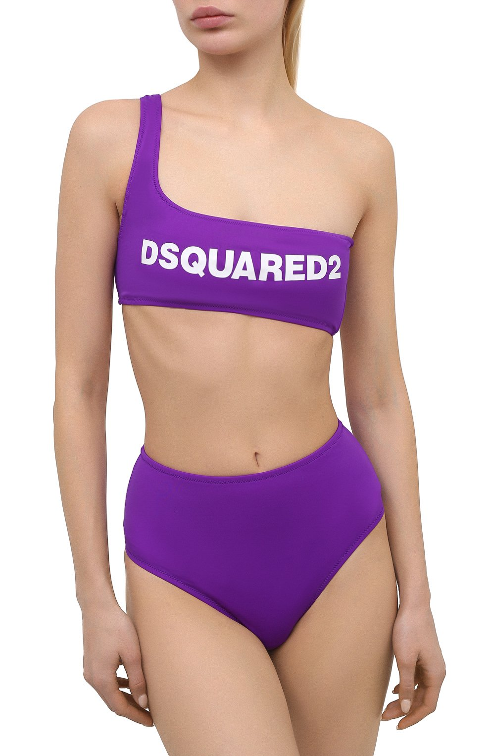 Женский бра-топ DSQUARED2 фиолетового цвета, арт. D6BYA2850 | Фото 2