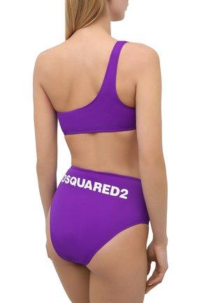 Женский бра-топ DSQUARED2 фиолетового цвета, арт. D6BYA2850 | Фото 3