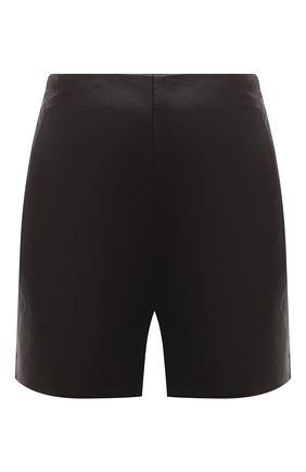 Женские кожаные шорты VALENTINO темно-коричневого цвета, арт. VB0NH7H05VT | Фото 1