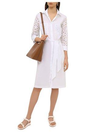Женское хлопковое платье D.EXTERIOR белого цвета, арт. 52685   Фото 2