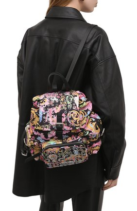 Женский рюкзак VERSACE JEANS COUTURE разноцветного цвета, арт. E1VWABX3-LINEA X DIS. 3/71887 | Фото 2
