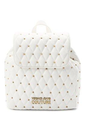 Женский рюкзак VERSACE JEANS COUTURE белого цвета, арт. E1VWABQ7-LINEA Q DIS. 7/71881 | Фото 1