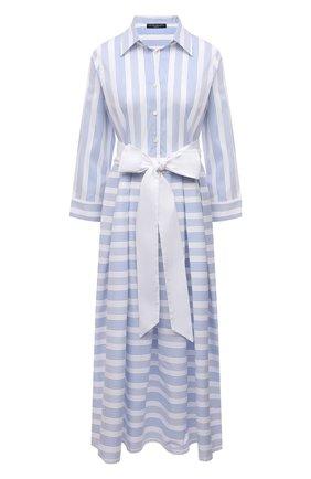 Женское хлопковое платье PIETRO BRUNELLI голубого цвета, арт. AG0453/C0FAST/4671 | Фото 1