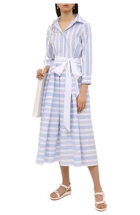 Женское хлопковое платье PIETRO BRUNELLI голубого цвета, арт. AG0453/C0FAST/4671 | Фото 2