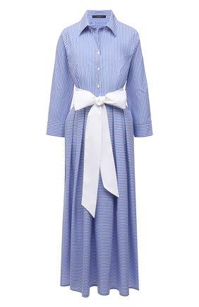 Женское хлопковое платье PIETRO BRUNELLI голубого цвета, арт. AG0453/C0FAST/8110 | Фото 1
