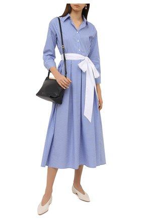 Женское хлопковое платье PIETRO BRUNELLI голубого цвета, арт. AG0453/C0FAST/8110 | Фото 2
